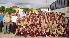 Maestro José Aguilar, deputado Nelson Härter e a Banda Marcial de Turuçu
