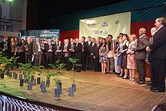 Sossella, Torma, Ramos, Giancarlo e os 35 homenageados pela responsabilidade ambiental