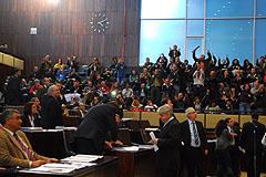 Servidores da Susepe acompanharam a vota��o das galerias