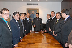 Comitiva de São Borja pediu apoio do Parlamento para a obra