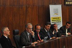Secretário Carlos Nobre foi o conferencista dos <i>Grandes Debates</i> desta segunda-feira