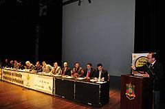 Villaverde fez a saudação de boas-vindas aos participantes do seminário